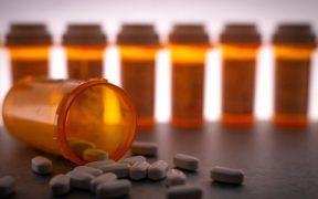 frasco de medicamentos