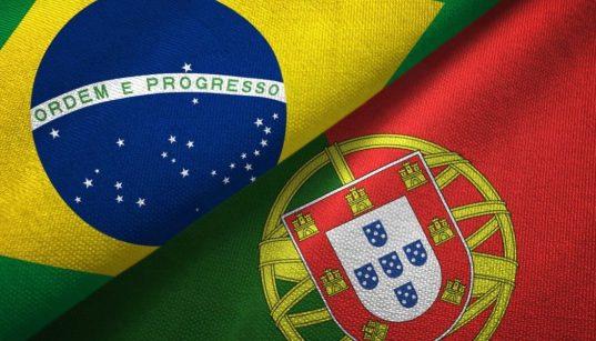 bandeiras do brasil e de portugal