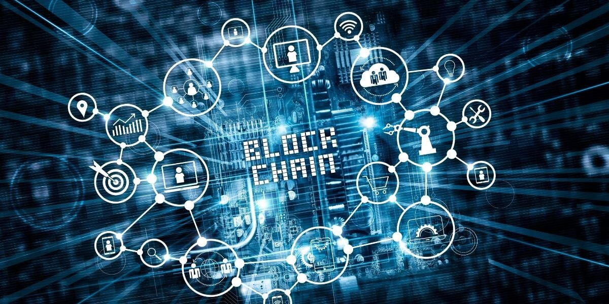imagem com conceito de blockchain