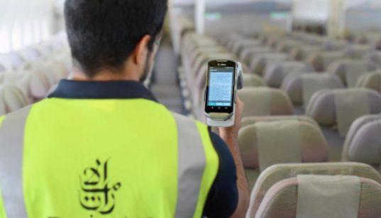 emirates usa rfid nas aeronaves