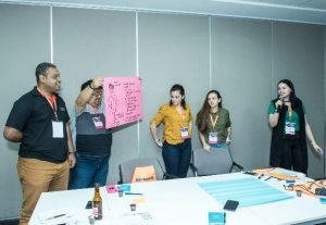 oficina de design thinkig no summit educação 2019