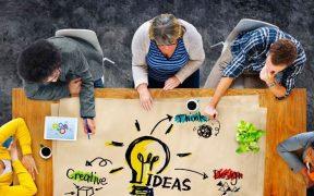 equipe em pratica de design thinking