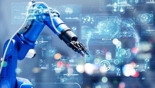 braço robótico conceito de automação