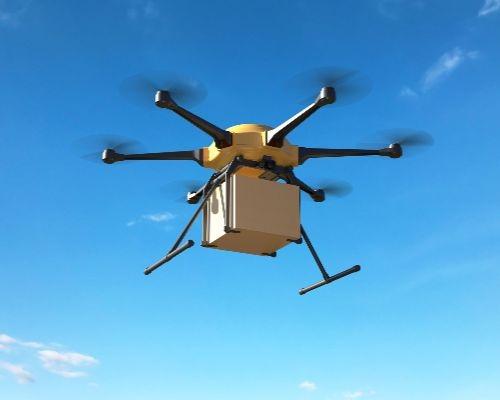 drone usado para entrega de produto