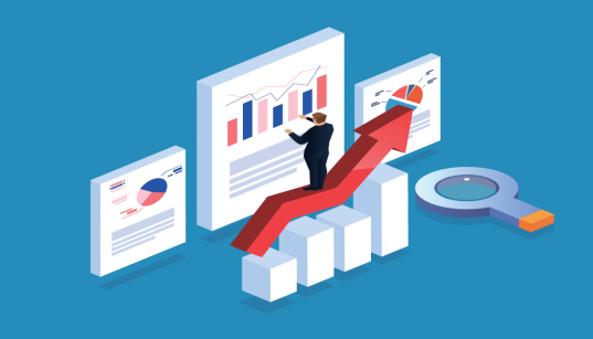 imagem ilustrativa de executivo analisando indice de mercado
