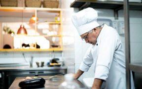 chef de cozinha preocupado