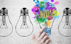 lampada com conceito de ideias e inovacao