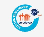 logo do programa sustentabilidade em codigo da gs1 brasil