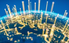 imagem representando mundo conectado