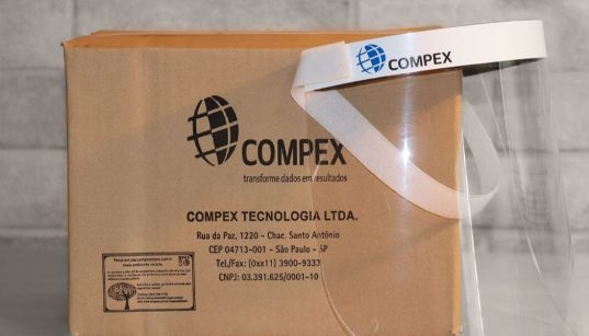 mascara face shiel vendida pela compex
