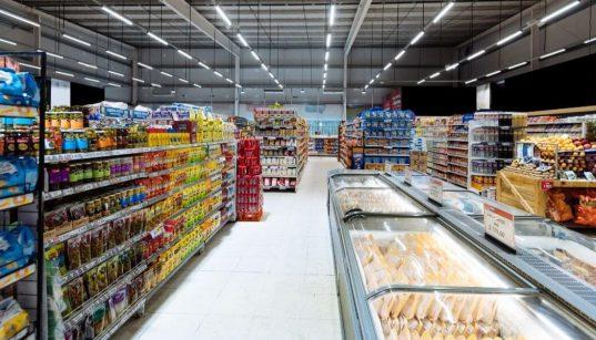 corredor de supermercado