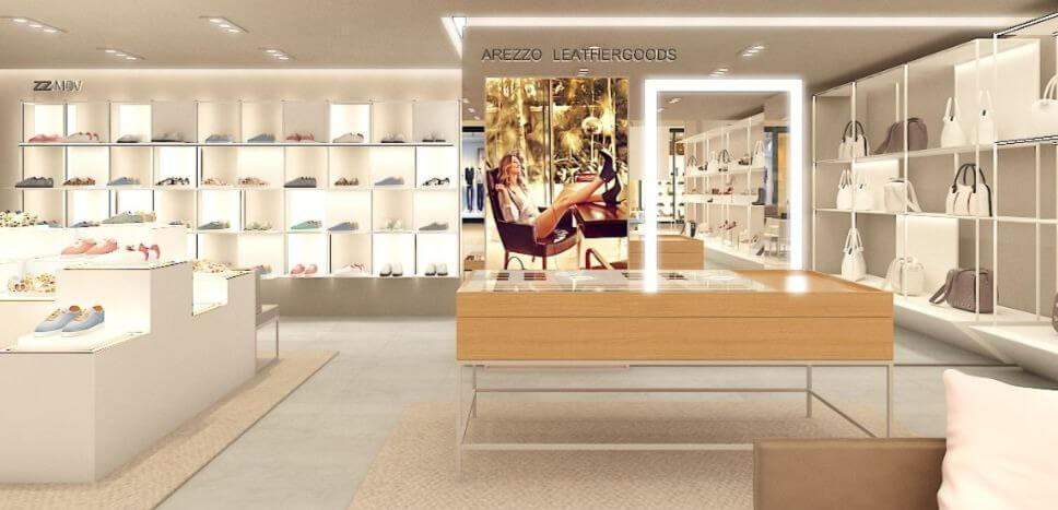 digital store arezzo com pop store de tenis e bolsa