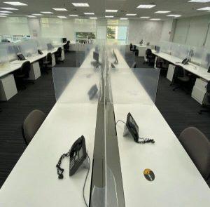 divisorias no escritorio da gs1 em sp