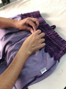 produção de roupas da marca nanh