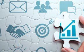 conceito de negocios e marketing