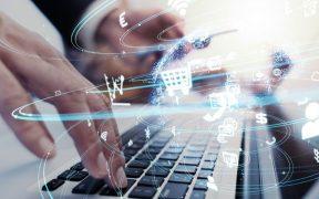 conceito de negocios e tecnologia e transformação digital