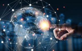 toque de mão no mundo virtual tecnologia e dados