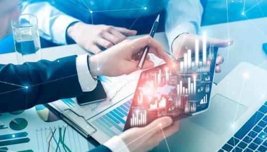 gestão de empresa com conceito futurista