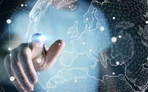conceito de tecnologia e rede no globo terrestre