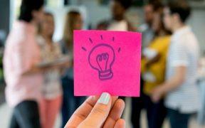 equipe com conceito de inovação e negocios