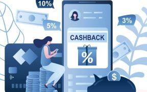 ilustração com conceito de cashback