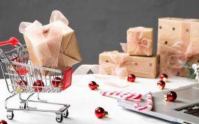 carrinho com presentes de natal ecommerce
