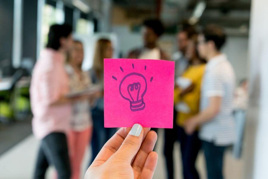 conceito de inovação entre a equipe
