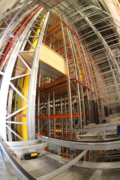 armazem vertical do laboratorio Aché em pernambuco