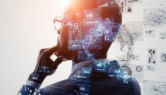 executivo e interface de inteligencia artificial