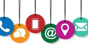 icones de canais digitais de atendimento ao cliente