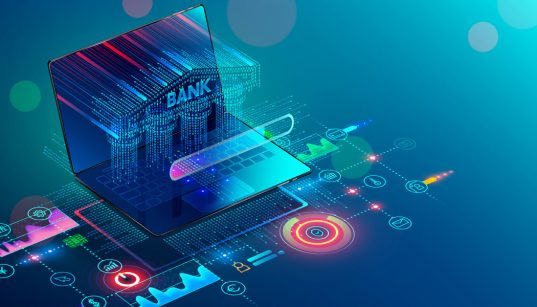 ilustracao 3d internet banking